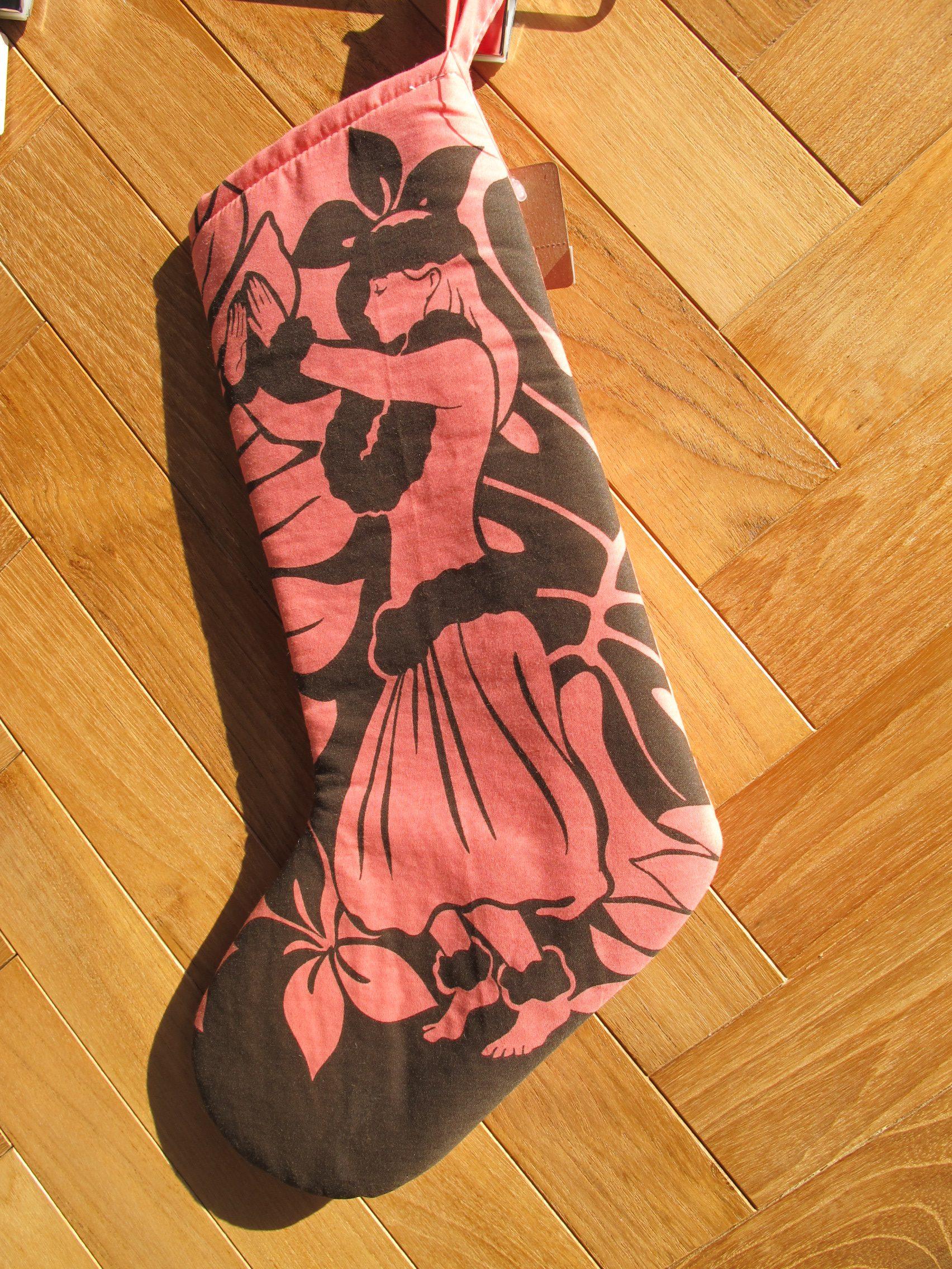 ハワイアン クリスマス 靴下 ハンドメイド